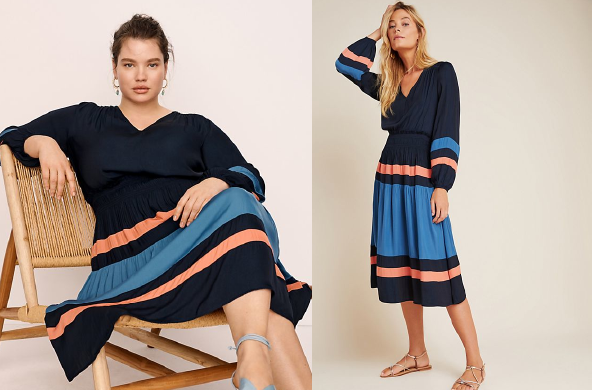 Aidy Colorblocked Midi Dress, $148 by Anthropologie