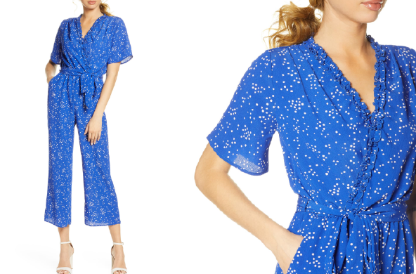 Domi Surplice Neck Jumpsuit by Fraiche by J, $105 at Nordstrom